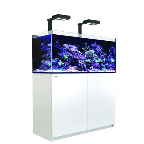 aquarium red sea reefer deluxe  meuble blanc animal