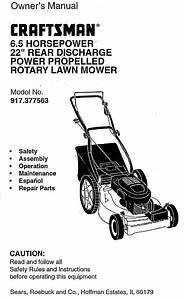Craftsman 917377563 User Manual Rotary Mower Manuals And