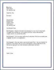 post cover letter set up