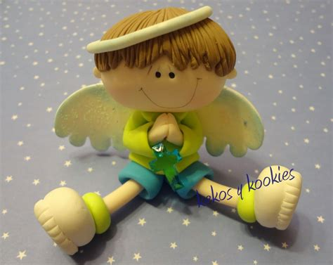 kekos kookies comuni 243 n cake topper cake angelito en porcelana fria porcelana fr 237 a