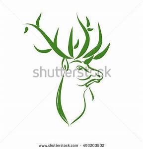 Stag Green Background Logo | Wallpaper Images