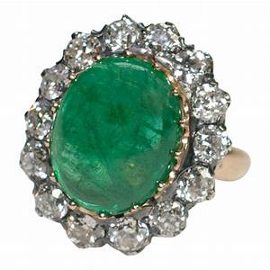 European Size Chart Conversion To Us Victorian Cabochon Emerald And Diamond Ring Plaza Jewellery