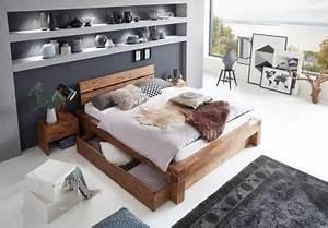 Bett Unter Dachschräge : sam balkenbett massivholz 160 x 200 cm mit bettkasten ~ Lizthompson.info Haus und Dekorationen