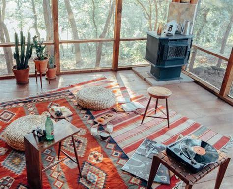 aztec rug woodstove cactuses  windows