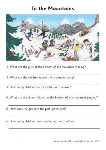reading comprehension sheet jolly learning