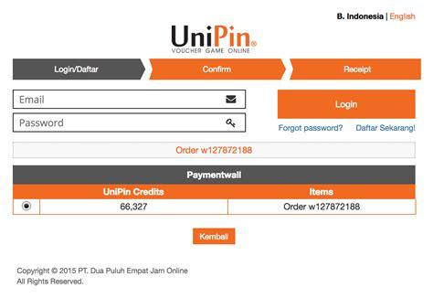 payment method unipin wallet