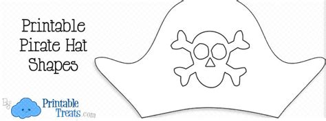 pirate hat template printable treatscom