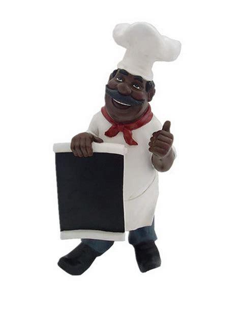 black chef kitchen accessories chef american black chalkboard menu statue 4660