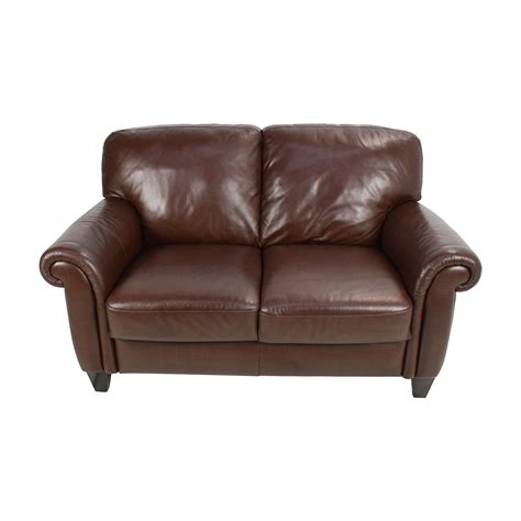 loveseat leather sofa 50 brown roll arm leather loveseat sofas