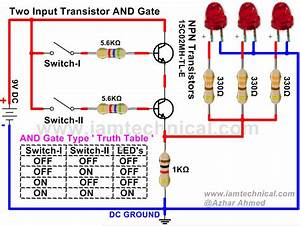 Two Input And Gate Using Npn Transistor