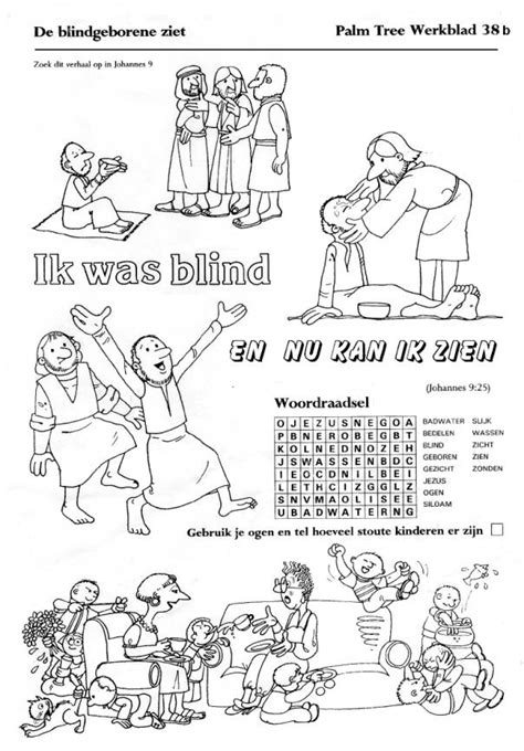 Kleurplaat Jezus Genezing Blindeeen Verlamde by Groep4 Groep4pcbsmozaiek