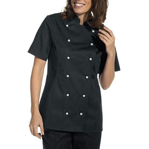 veste cuisine couleur veste de cuisine femme manches courtes cintrée poche sur