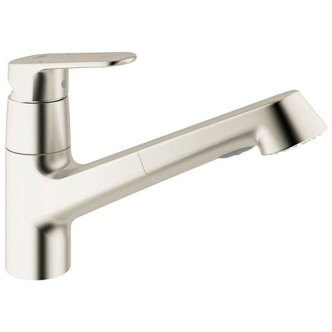 grohe pull out kitchen faucet grohe europlus new single handle pull out sprayer kitchen faucet in supersteel 32946dc2 the