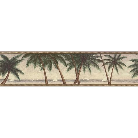 Scenic Palm Tree Wallpaper Border - Walmart.com