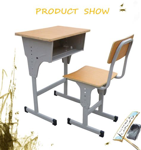 student table and chair high quality plastic student desk standard size of