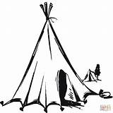 Tent Teepee Coloring Nomads Tipi Clipart Drawing Pages Printable Nomadic American Native Nomad Printables Sketch Houses Supercoloring Getdrawings Flowers Neo sketch template
