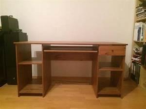 Möbel Dunkles Holz : ikea schreibtisch dunkles holz leichte gebrauchsspuren ~ Michelbontemps.com Haus und Dekorationen