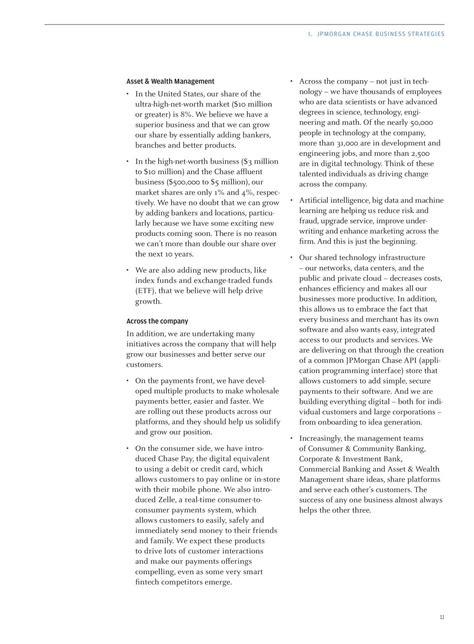 Jamie Dimon Letter To Shareholders 2017 - JPMorgan Chase
