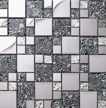 glass mosaic kitchen backsplash tile stainless steel