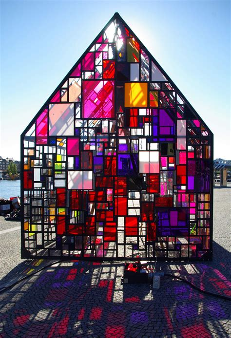 Architecture Ideas by Stained Glass Sculptures By Tom Fruin