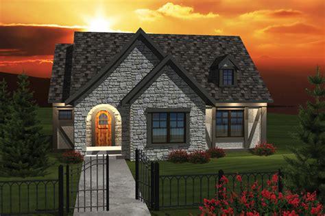castle tudor ranch home plan   house plans
