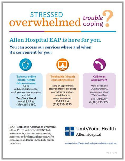 employee assistance programs eap  allen hospital