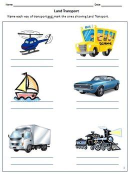 transport and vehicles worksheets for grade 1 by rituparna