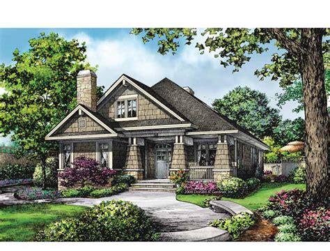 bungalow house plans  rear entry garage cottage house plans