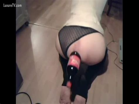 Girl Fucking Coke Bottle Porno Photo
