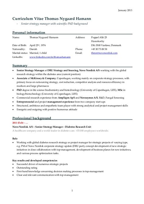 Resume For Mckinsey by Resume Mckinsey Cv Exle Free Resume Cv Exle