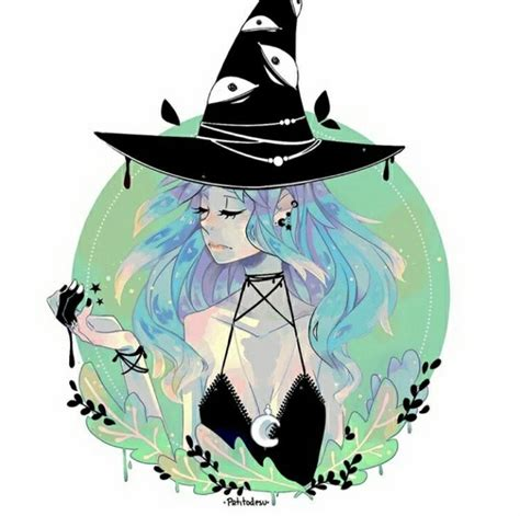 pin  alexandria  witchy art  images witch art