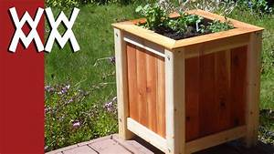 Build an easy, inexpensive wood planter box - YouTube