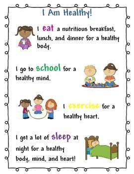 Pupils could make posters to encourage others to participate in various forms of exercise. I Am Healthy Kids Poster for School Nurse and Health Teacher | School nurse posters