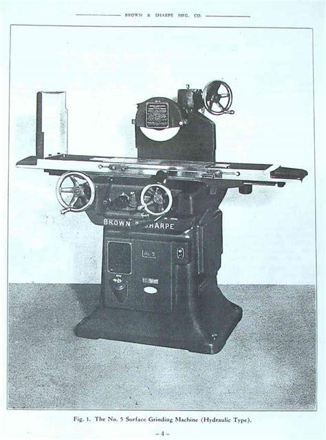 brown sharpe   surface grinder operator parts