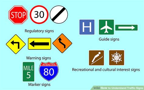 what color are guide signs 4 ways to understand traffic signs wikihow