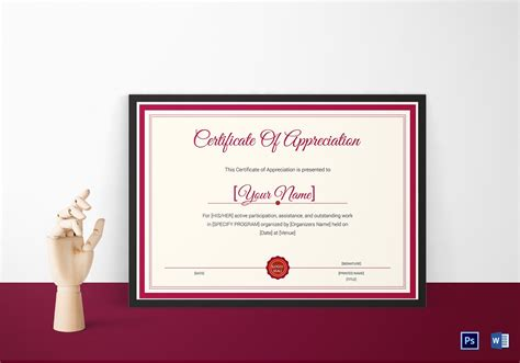 certificate design template  psd word