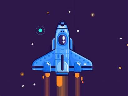 Space Animation Dribbble Ship Spaceship Connect Posters