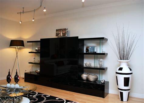 meuble de rangement cuisine meuble tv verre ébène