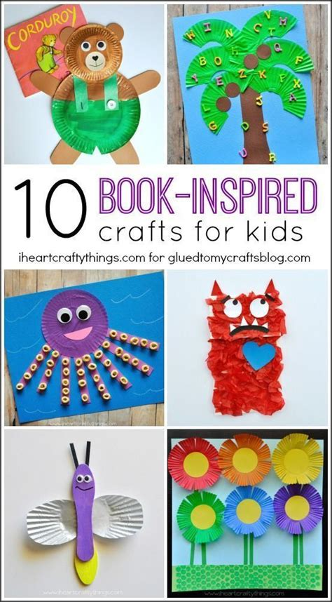 book inspired kid crafts roundup  heart crafty