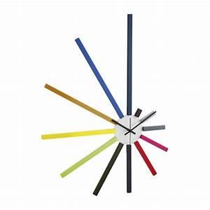 Grande Horloge Murale Design : spectrum horloges multicolore bois plastique habitat ~ Nature-et-papiers.com Idées de Décoration