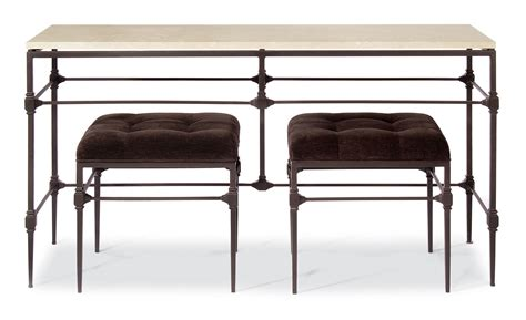 console table with bench metal console table bernhardt