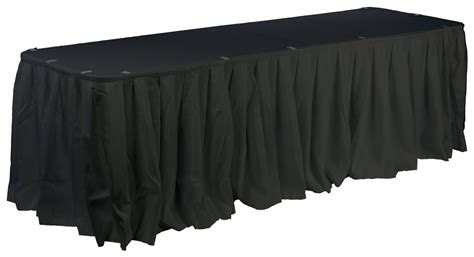 table cloth skirting design table skirt with box pleated design black fabric