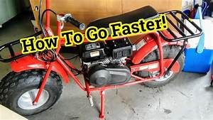How To Make Your Mini Bike Faster - Coleman Ct200u