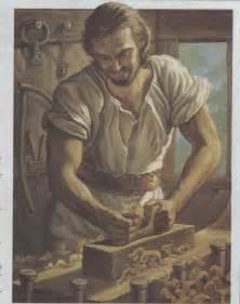 Resultado de imagen de jesus en la carpintería