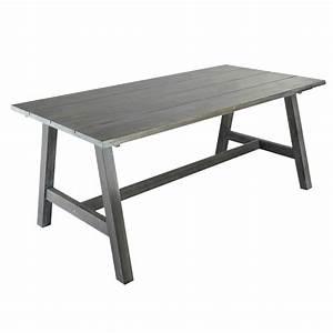 Table De Jardin Grise : table de jardin rectangulaire bois gris dinan maisons ~ Teatrodelosmanantiales.com Idées de Décoration