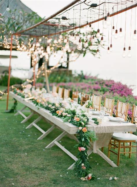 DIY Fresh Floral Garland Wedding decorations Wedding