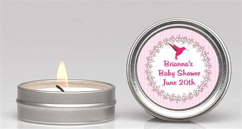 hummingbird candle favors candles favors