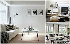 Ide Dco Salon Noir Et Blanc Beautiful Elegant Deco Salon