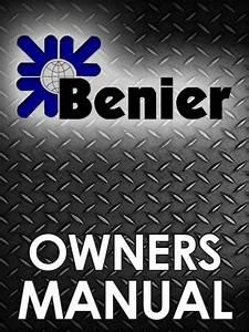 Benier Intermediate Proofer Manual