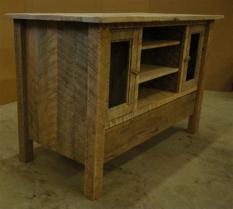 custom  rustic oak entertainment center oak